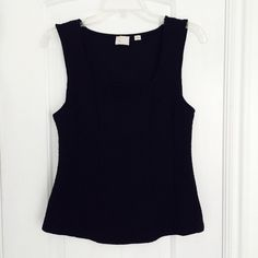 Postmark top Black sleeveless jacquard top with square neckline. Excellent condition. Size S. Anthropologie Tops