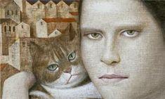 The Sixth Life - Vladimir Dunjic Coraline, Nine Cat, Living With Cats, Cat Sketch, Cat People, Cat Life, Cat Art, Illustration Art, Sketches