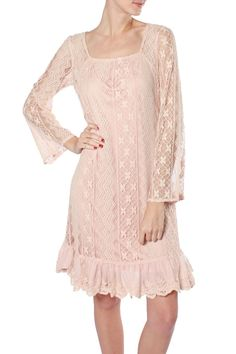 Lace Pretty In Pink Bell Sleeve Dress – Moonshine & Lace