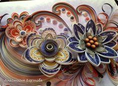 Картина панно рисунок Новый год Квиллинг Хорошее настроение Бумажные полосы фото 2