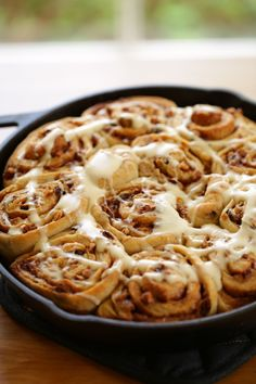 Overnight Cinnamon Buns with Cream Cheese Glaze