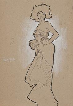 ❤ - Alphonse Mucha   Sketches.