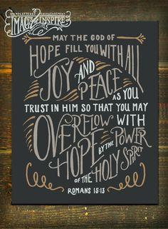 May the God of Hope…- Romans 15:13- Hand lettered 8x10, 5x7 print, and Devotional cards!! - Instant Download by Images2Inspire on Etsy