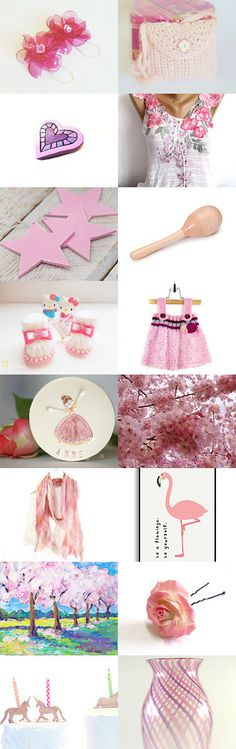 Pink finds by styledonna on Etsy--Pinned+with+TreasuryPin.com