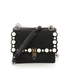 032af90936a2 Buy Fendi Kan I Handbag Pearl Embellished Leather Small 3526701 – Rebag