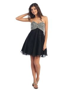 short homecoming dresses for teens | black and white silver prom dresses for juniors teens and young girls ...