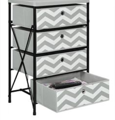 cute black, white, and grey drawers