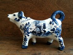 Vintage Delft Blue and White Creamer Cow-cows- tracy porter ~ poetic wanderlust..xx