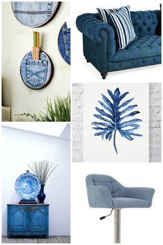How to decorate with denim! I love that Denim Drift is Dulux's colour trend for Clickthrough for ideas on how to use denim in you interiors Blue Chest Of Drawers, Blue Chests, Colour Schemes, Color Trends, Colour Palettes, Dulux Denim Drift, Earthy Kitchen, Color Of The Year 2017, Painted Sideboard