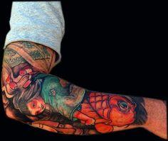 tatuagens no braço de carpa