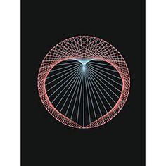 String Art Free Heart Circle Pattern