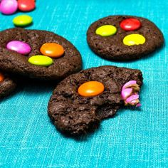 Chewy Chocolate M Cookies