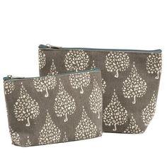 Crete Grey Zip Bags Set of 2