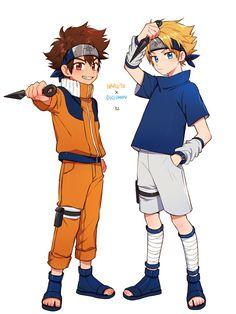 Tai as Naruto & Yamato as Sasuke