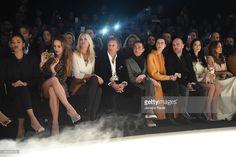 Valeria Mazza, Alejandro Gravier, Pietro Tavallini, Jane Balzarini and Winonah de Jong attend the Elisabetta Franchi show during the Milan Fashion Week Autumn/Winter 2015 on February 28, 2015 in Milan, Italy.