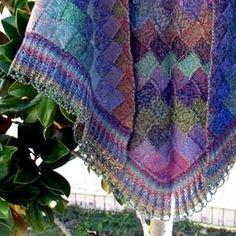 Autumn Entrelac Shawl Pattern from Jojoland