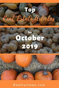 Check out this month's edition of Top Real Estate Articles for October 2019 over at RealtyTimes. You will find information about defining your decor style, advanced home security tips, selling a vacant home, Halloween safety times and much more. Real Estate Articles, Real Estate Information, Real Estate Tips, Smart Garage Door Opener, Sell Your Own Home, Halloween Safety Tips, Real Estate Buyers, Home Staging Tips, Home Security Tips