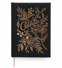 Our new address book is pretty, practical, and so giftable. It's full of charming details, like a gold foil-accented, book cloth cover, a ribbon page marker, illustrated end pages, and sections to keep track of your favorite people and most important dates. This is an address book you'll hang onto forever.