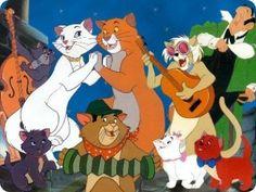 Gatos famosos cine.Los Aristogatos