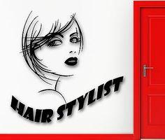 Wall Sticker Vinyl Decal Hot Sexy Girl Hair Salon Stylist Beauty Spa (ig2161)