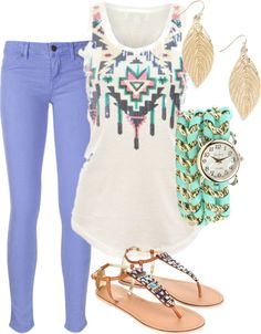 """54"" by yellowlace on Polyvore, I would wear different shoes, maybe some different flats or something"
