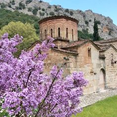 Blossoming Lilacs and a 13th Century church #pure #beauty  #Greece #Pindos