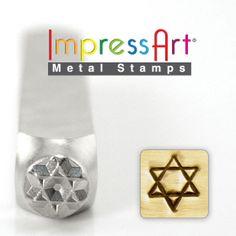 STAR of DAViD METaL STAMP 6mm 1/4 Steel Punch by NaftaliSupply, $8.00