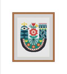Bird cross stitch pattern Bird cross stitch by StitcheryStitch #etsy #bird