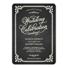 Chalkboard Union | Wedding Invitation