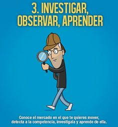 10 frases ilustradas de Steve Jobs para emprendedores: Investigar, observar aprender.