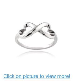 Sterling Silver Polished Infinity Heart Ring #Sterling #Silver #Polished #Infinity #Heart #Ring