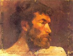 1896 TИte dun homme barbu (La Llotja). Пабло Пикассо (1881-1973) Период: 1889-1907