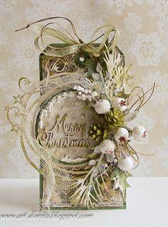 Dorota_mk Christmas Tag More Christmas Paper Crafts, Noel Christmas, Christmas Gift Tags, Xmas Cards, Handmade Christmas, Holiday Cards, Christmas Wreaths, Tag Art, Decoupage