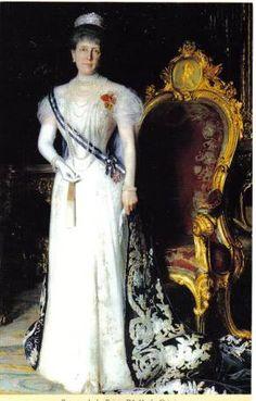 Prinzessin Maria de la Paz von Bayern, geborene Infantin von Spanien (1862-1946) mit Fringe(?) Tiara