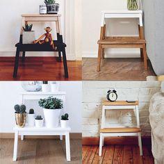"""𝕃𝕒𝕦𝕣𝕒 在 Instagram 上发布:""""I got myself one of these cute 'BEKVÄM' stools from IKEA so I can reach the top shelves in the kitchen, can't decide if I should keep it…"""" Ikea Hack Bench, Ikea Step Stool, Diy Stool, Stool Makeover, Furniture Makeover, Diy Furniture, Ikea Bekvam, Bekvam Stool, Home Deco"""