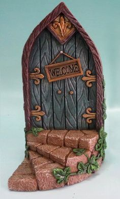 Fairy Mini Garden Door with Welcome Sign