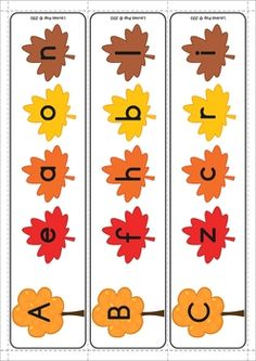 Autumn / Fall Literacy Centers for Kindergarten. Math the lower and upper case letters. Fall Preschool, Preschool Classroom, Kindergarten Math, Classroom Ideas, Fall Projects, Morning Work, Child Care, Worksheets For Kids, Literacy Centers
