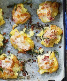 Murskatut uuniperunat ja pekoni-juustotäyte – katso resepti! | Meillä kotona