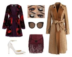 """""""Themes: fall walk"""" by eleanagn on Polyvore featuring Anna Sui, Loeffler Randall, Jimmy Choo, STELLA McCARTNEY and Chicwish"""
