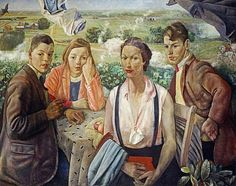 Cowie, James, (1886-1956), A Portrait Group, 1933, Oil