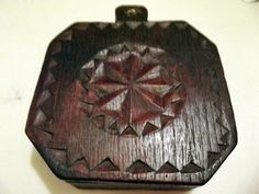 Unique Pumpkin Wood Jewelry Box Vintage by HandmadeandCollect