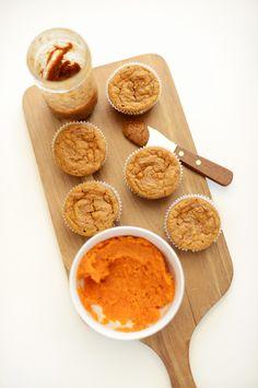 Sweet Potato Almond Butter Muffins Recipe | Minimalist Baker
