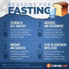 Lent Infographic: 4 Reasons For Fasting Catholic Lent, Catholic Quotes, Catholic Prayers, Catholic Beliefs, Christianity, Roman Catholic, Lent Prayers, Catholic Catechism, Catholic School