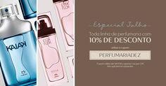 Aqui tem cupom_de 18 à 19/Jul. Escolha seus itens da perfumaria favoritos e aproveite para ganhar 10% de desconto adicional com o cupom PERFUMARIADEZ.Corra e garanta já os seus!