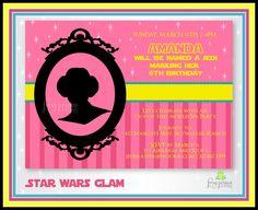 Princess Leia invitations