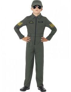 110d9ea26 Aviator Costume2 Pilot Fancy Dress, Boys Fancy Dress, Jumpsuit For Kids,  Fighter Pilot