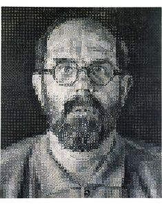 Chuck Close, Self-Portrait, 1993 oil on canvas 72 x 60 in. (182.9 x 152.4 cm)