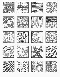 Afbeeldingsresultaat voor zentangle patronen voor beginners