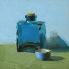 The color of blue 2, painting by artist Qiang Huang