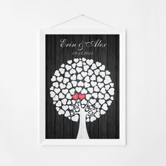 Wedding guest book poster. Personalized tree of by PenguinGraphics
